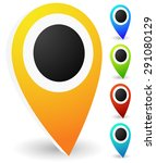 3d map markers  map pins ... | Shutterstock .eps vector #291080129