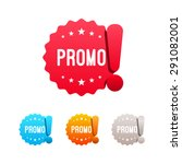 promo labels | Shutterstock .eps vector #291082001
