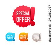 special offer labels | Shutterstock .eps vector #291082037