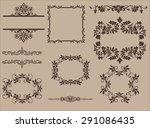 vintage design elements  set.... | Shutterstock . vector #291086435