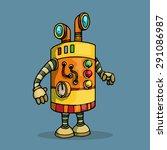 cute unique robot character ...   Shutterstock .eps vector #291086987