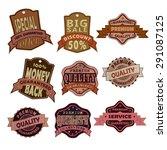 set of premium quality labels ... | Shutterstock .eps vector #291087125