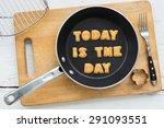 top view of alphabet text... | Shutterstock . vector #291093551