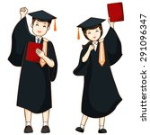 Boy And Girl Graduate From Hig...