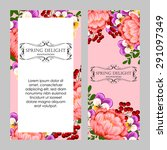 spring delight collection.... | Shutterstock .eps vector #291097349