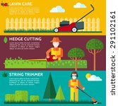 Lawn Mower. Gardener Cutting A...