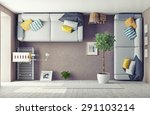 strange living room  interior.... | Shutterstock . vector #291103214