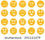 smile and emotion icons. vector ... | Shutterstock .eps vector #291121379