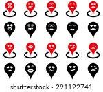 smiled map marker icons. vector ... | Shutterstock .eps vector #291122741