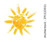 watercolor sun  rays flat icon... | Shutterstock .eps vector #291123311