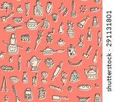 vector kitchen stuff doodle... | Shutterstock .eps vector #291131801