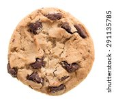 chocolate chip cookie isolated... | Shutterstock . vector #291135785