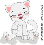 cartoon white cat. | Shutterstock .eps vector #291136421