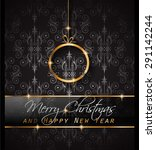 2016 merry chrstmas and happy... | Shutterstock .eps vector #291142244