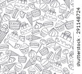 seamless pattern with linerl... | Shutterstock .eps vector #291148724