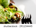 fresh ecological salad mix with ... | Shutterstock . vector #291154445