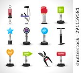 metal spring devices set with... | Shutterstock .eps vector #291159581