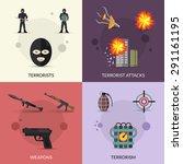 terrorism design concept set...   Shutterstock .eps vector #291161195