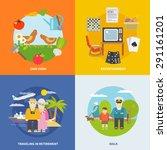 pensioners life design concept... | Shutterstock .eps vector #291161201