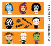 set of characters happy... | Shutterstock .eps vector #291167531