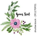 watercolor floral composition... | Shutterstock . vector #291170951