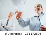 confident business people... | Shutterstock . vector #291172805