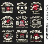 football logo set  athletic t... | Shutterstock .eps vector #291177671