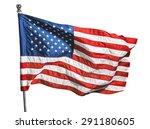 american flag  flag  american... | Shutterstock . vector #291180605