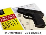 pistol with firearm application ... | Shutterstock . vector #291182885