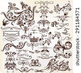 calligraphic vector vintage... | Shutterstock .eps vector #291184571