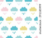 vector fun colorful clouds... | Shutterstock .eps vector #291185999