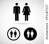 vector a man and a lady toilet... | Shutterstock .eps vector #291187217