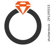 diamond ring icon from commerce ... | Shutterstock . vector #291195515