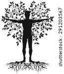 human tree   Shutterstock .eps vector #291203567