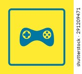 gamepad icon. vector. flat...   Shutterstock .eps vector #291209471