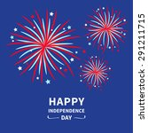 happy independence day united... | Shutterstock .eps vector #291211715
