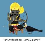 shanidev   indian god | Shutterstock .eps vector #291211994