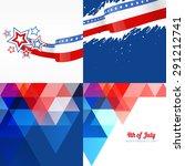 vector set of american flag... | Shutterstock .eps vector #291212741