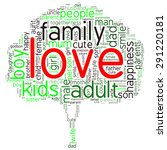 family info text graphics and... | Shutterstock .eps vector #291220181