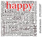 family info text graphics and... | Shutterstock .eps vector #291220187