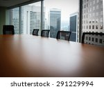 boardroom table with five... | Shutterstock . vector #291229994