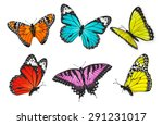 set of realistic colorful... | Shutterstock .eps vector #291231017