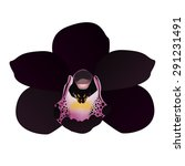 Vector Black Orchid