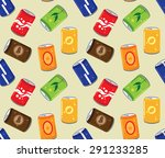 soft drink can seamless pattern