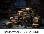 robot child reading a book in... | Shutterstock . vector #291238331