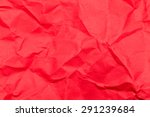 crumpled red paper | Shutterstock . vector #291239684