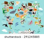 vector map of the world with... | Shutterstock .eps vector #291245885