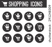 set of vector shopping icons | Shutterstock .eps vector #291248309