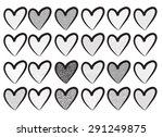 vector heart shape | Shutterstock .eps vector #291249875