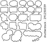 vector set of speech bubbles | Shutterstock .eps vector #291250559